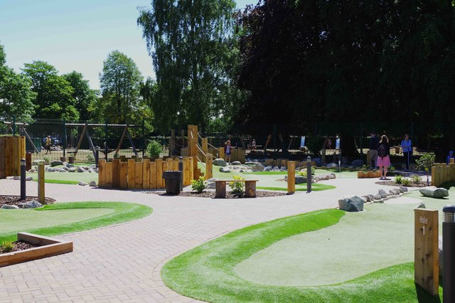 Adventure Golf course, The Leys, Witney, Oxon