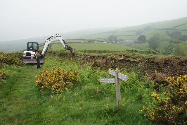 Wall repairs on Sugarloaf Hill