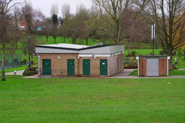Public toilets in Sanders Park, Bromsgrove, Worcs