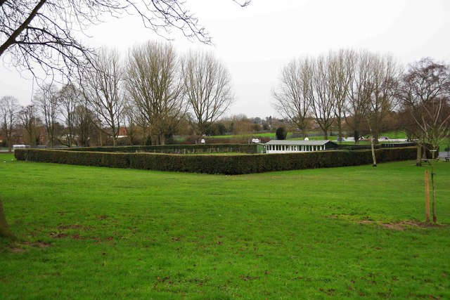 Bowling green and pavilion, Sanders Park, Bromsgrove, Worcs