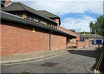 TG2308 : St Faiths Lane past The Daynes sports centre by Evelyn Simak