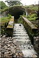 NS4672 : Spillway on the Dalnottar Burn by Richard Sutcliffe