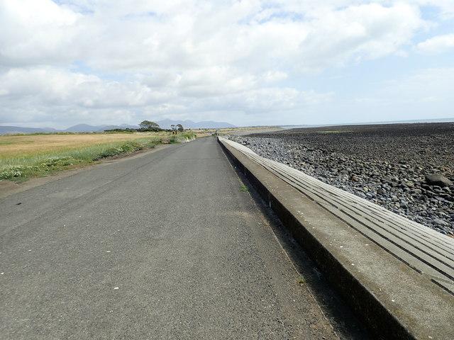 Sea defences west of Ballagan Point