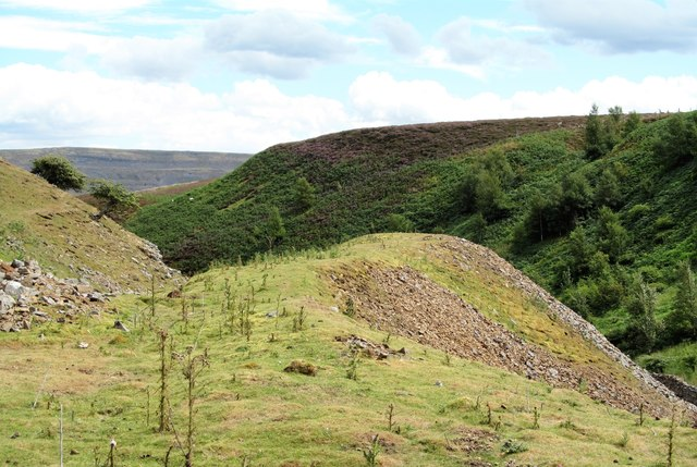 Old spoil heap in Fore Gill by Gordon Hatton
