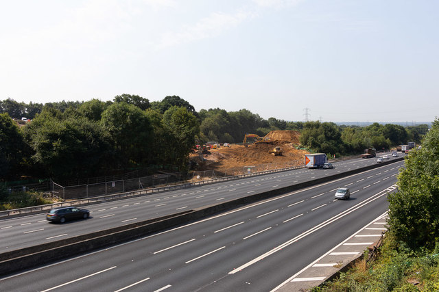 Preparatory works on south side of M27