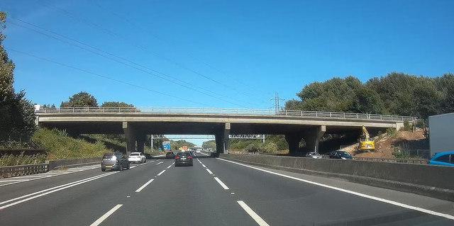 Old Romsey Road bridge over M27 at Nursling