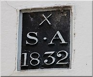 TG2308 : School Lane - parish boundary marker by Evelyn Simak