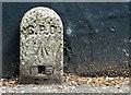 TG2308 : GPO marker in Horsefair Loke by Evelyn Simak