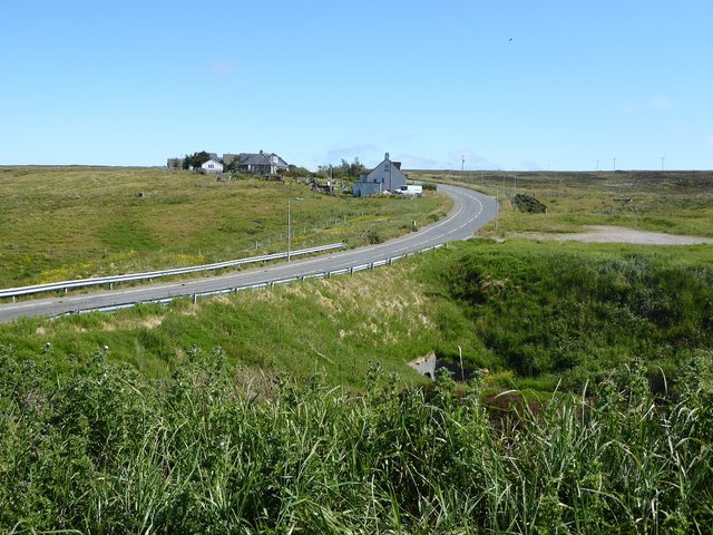 Houses on the northern outskirts of Garrabost