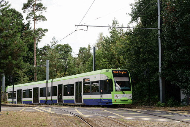Tram at Gravel Hill