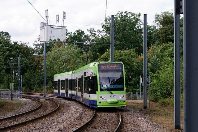 Tram at Gravel Hill
