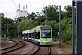 TQ3564 : Tram at Gravel Hill by Peter Trimming