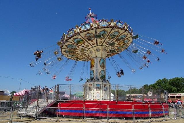 A fairground ride in Hyde Park
