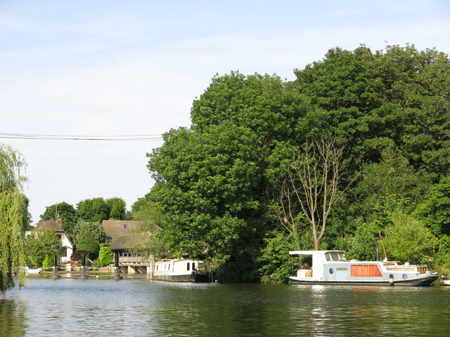 The channel between Taggs Island and Ash Island