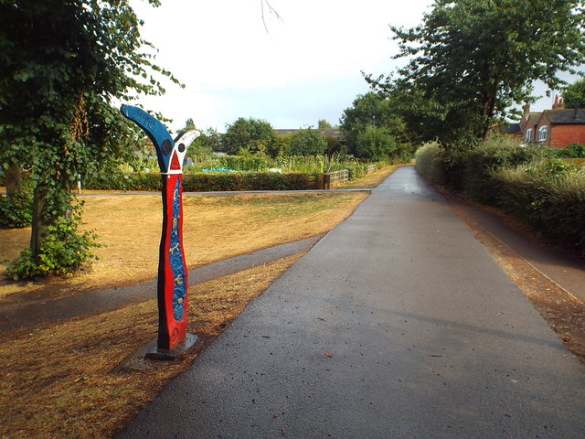 National Cycle Network marker post, Market Harborough
