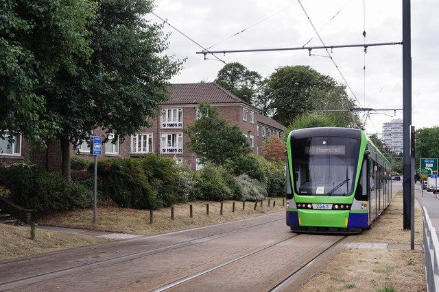Tram Approaching Sandilands