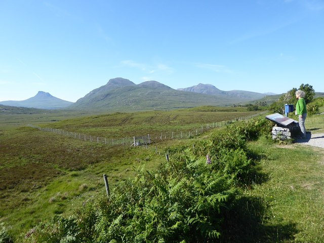 Viewpoint on the A835, with Stac Pollaidh in the distance