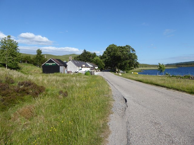 Approaching the Altnacealgach Hotel on the A837