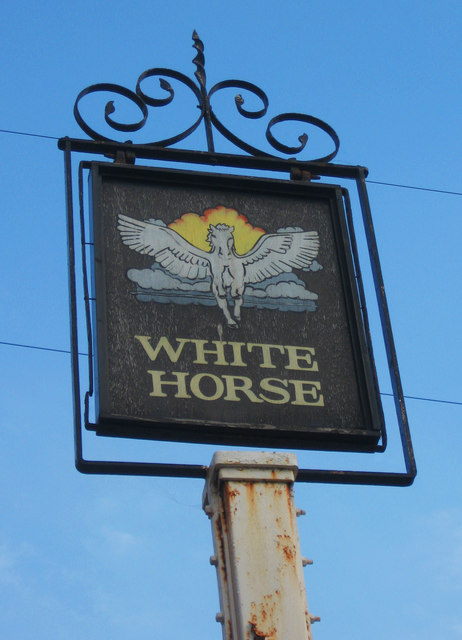 White Horse (2) - sign, 103 Fore Street, Upper Edmonton, London N18