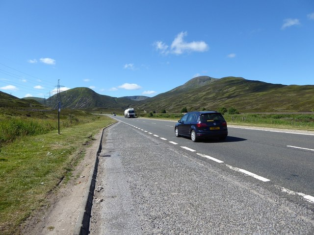 Lay-by on A9 at the Pass of Drumochter