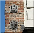 TG2308 : 4 Princes Street - parish boundary markers by Evelyn Simak