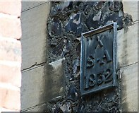 TG2308 : Blackfriars Hall - parish boundary marker by Evelyn Simak