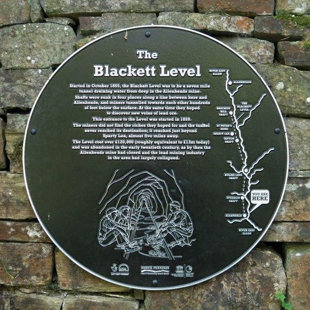 Plaque re the Blackett Level