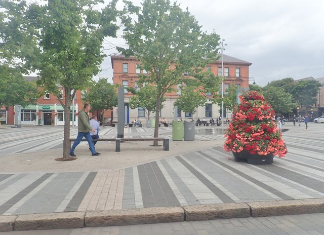 View North across Market Square, Dundalk