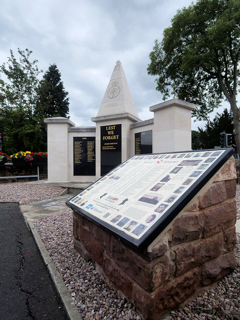 Euxton War Memorial and Roll of Honour