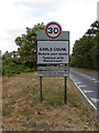 TL8628 : Earls Colne Village Name sign by Geographer