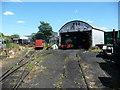 TQ9266 : Locomotive shed, Sittingbourne and Kemsley Light Railway by Christine Johnstone