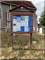 TL8628 : St. Andrew's Church Notice Board by Adrian Cable