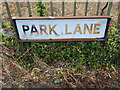 TL8628 : Park Lane sign by Adrian Cable