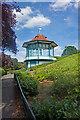 TQ3473 : Forest Hill : Horniman Gardens bandstand by Julian Osley