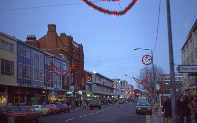 Above Bar Street in 1986