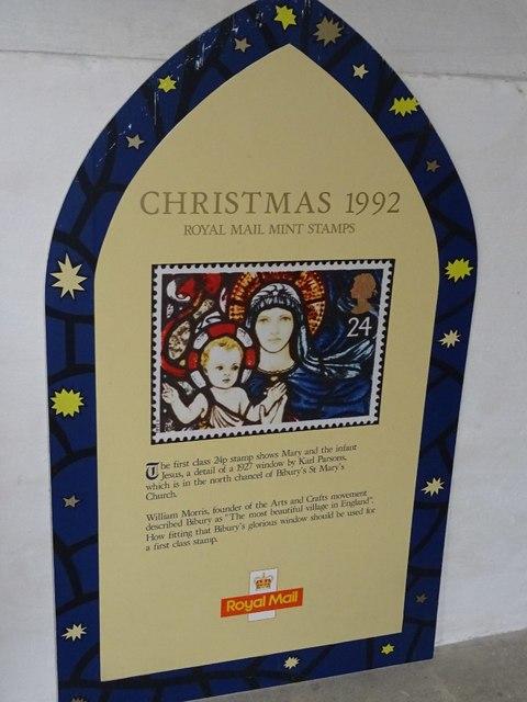 The 1992 26p Christmas stamp