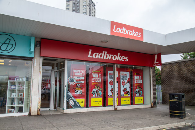 Ladbrokes Bookmakers at Knightswood Shopping Centre in Glasgow
