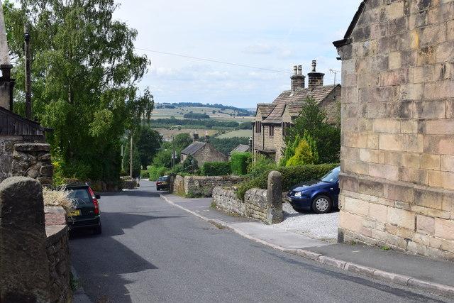 Village street at Stanton in Peak