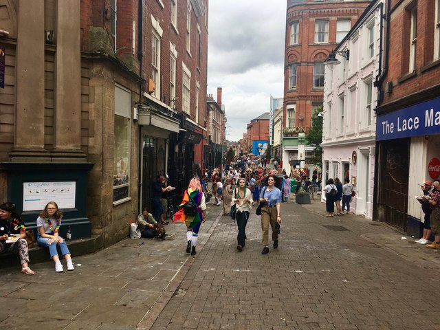 Stoney Street on the day of the Pride parade