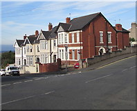 ST3288 : Houses at the top of Victoria Avenue, Newport by Jaggery