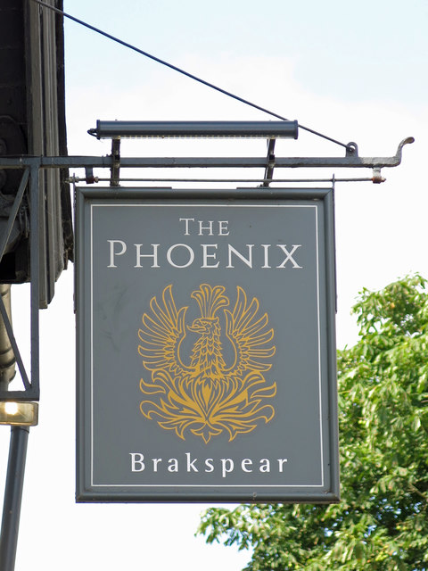 Sign for The Phoenix, Thames Street