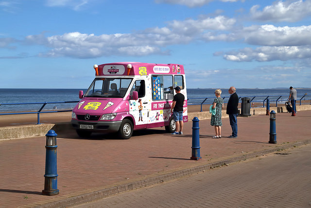 An ice cream van at Spittal