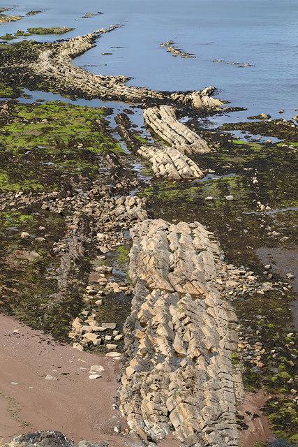 Rock strata at Cargie's Plantation
