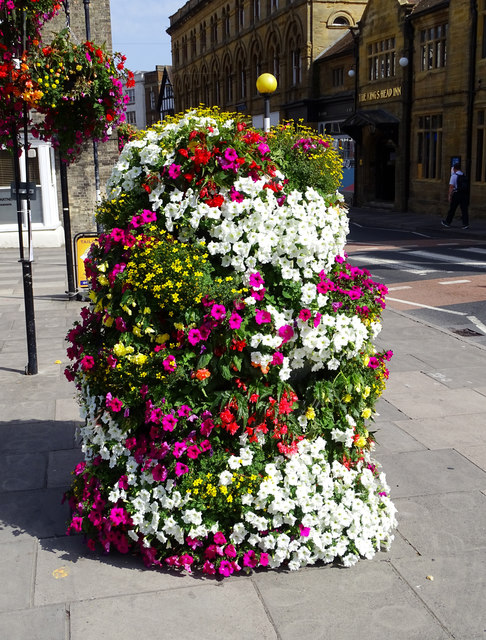 Floral display, Bridge Street, Salisbury