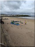C8540 : Surfing School lesson on West Bay strand Portrush by Willie Duffin