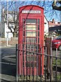 SJ2993 : Old phone box, Grove Road, Wallasey by Graham Robson