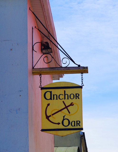Anchor Bar (2) - sign, Davitt's Quay, Dungarvan, Co. Waterford