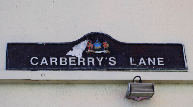 Street name sign, Carberry's Lane, Dungarvan, Co. Waterford