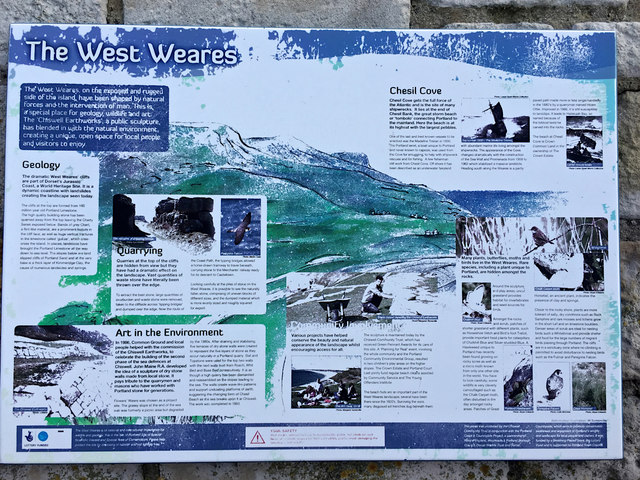 Information about the West Weares, near Chiswell, Portland