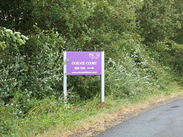 Ogilvie Court sign on America Road